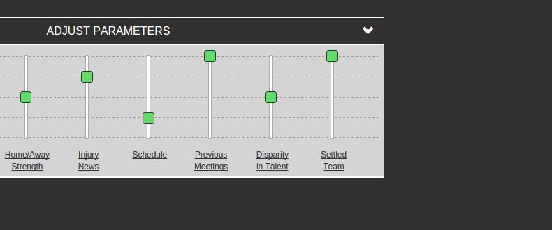 Fan Predictor adjust parameters